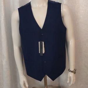 Perry Ellis bright navy blue slim fit stretch vest